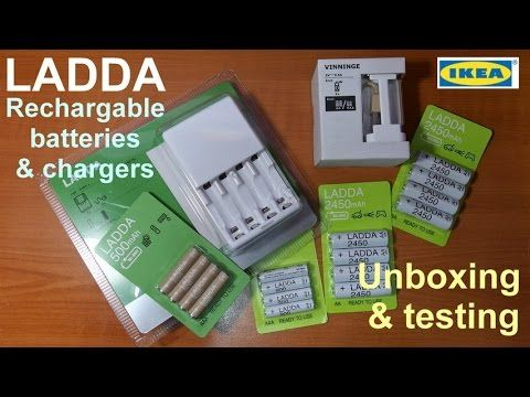 Ikea Ladda Rechargable Batteries And Charger Unboxing Testing Youtube Rechargeable Batteries Unboxing Charger