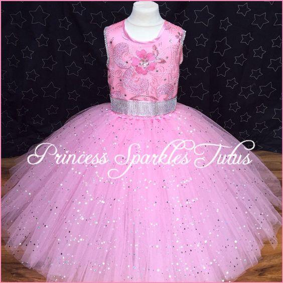 Princess dress Flowergirl dress by PrincessSparklesTutu on Etsy