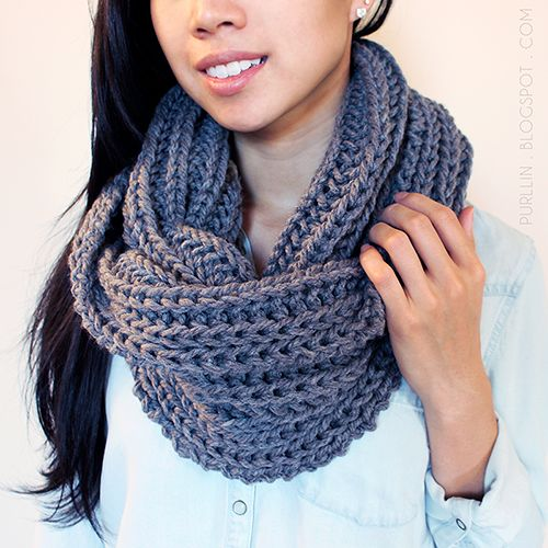 Knitted Infinity Scarf Pattern Pinterest : Free Knitting Pattern - Scarves: Textured November ...