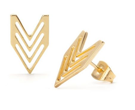 Gotta add a little chevron to your jewelry collection too! Love these chevron studs