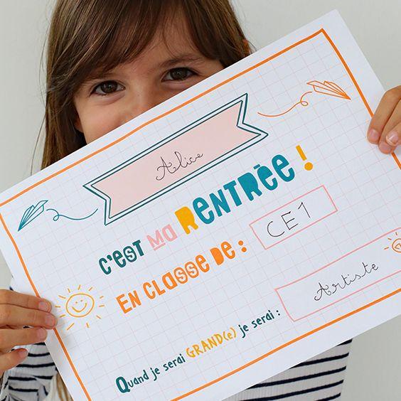 Premier jour d'école : Conseils + Pancarte à imprimer - %