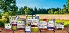 A Montó e a Compinta comercializam tintas e vernizes amigos do ambiente, que podem ser diluídos com àgua.
