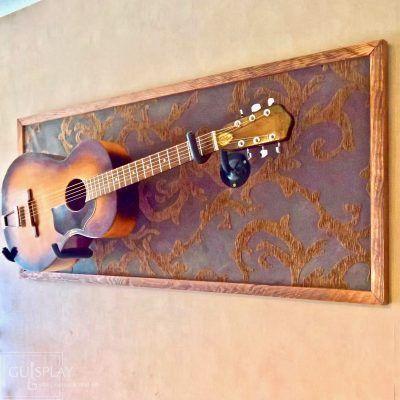 Horizontal Guitar Wall Hanger Show Off Your Guitars Guitar Display Case Wall Hanger Wall Mount By Guispl Guitar Wall Hanger Guitar Wall Guitar Display