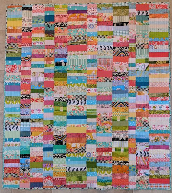 Chinese Coins scrap quilt