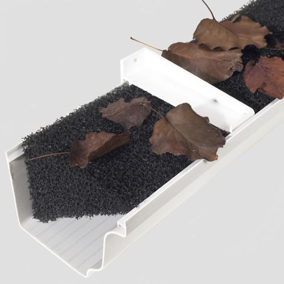 Why didn't I think of this!? --- Rain Gutter Foam 32-linear Feet Gutter Guard - Overstock™ Shopping