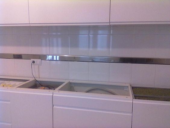 Fotos de cenefas de acero inoxidable decorar tu casa for Cenefas autoadhesivas cocina