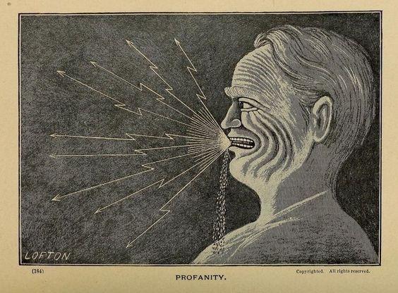 Profanity _Character sketches; or, The blackboard mirror_ 1890