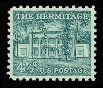 Collectors Corner - Scott# 1037, 1959 4 1/2c Blue green, PSE Superb 98, Mint OGnh
