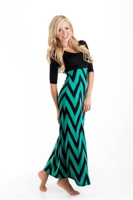 Chevron print bow back maxi dress bow back maxis and for Cute shirts for maxi skirts