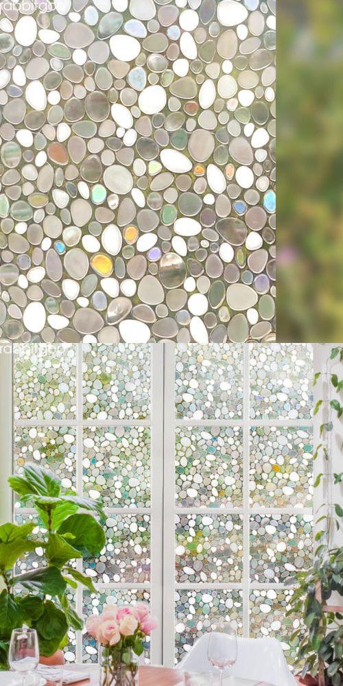 Rabbitgoo Privacy Window Film 3d Pebble Static Cling Glass Fits Home Decorative Ebay Window Film Privacy Window Film Glass Fit