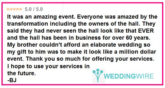 """Love how lighting can transform a venue!  """"My brother couldn't afford an elaborate wedding ... but the lighting made it look like a million dollar event!"""" #feelingthelove #ilovemyjob #specialmoment #thisiswhywedoit #diy #rentmywedding #wedding #diywedding #weddinginspiration #inspiration #celebration #weddingreception #event #planning #dreamwedding"""