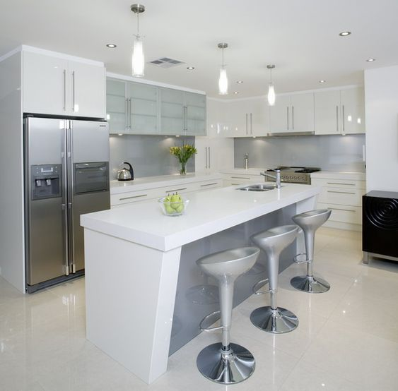 White Kitchen Grey Splashback white kitchen with grey glass splashback | home is where the heart