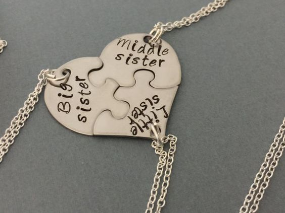 3 beste Freund Halskette-3 Schwestern Halskette von sonudesigns