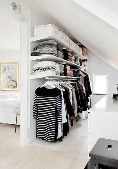Dressing sous pente sans souci pour sa d co chambre for 94 pour cent chambre