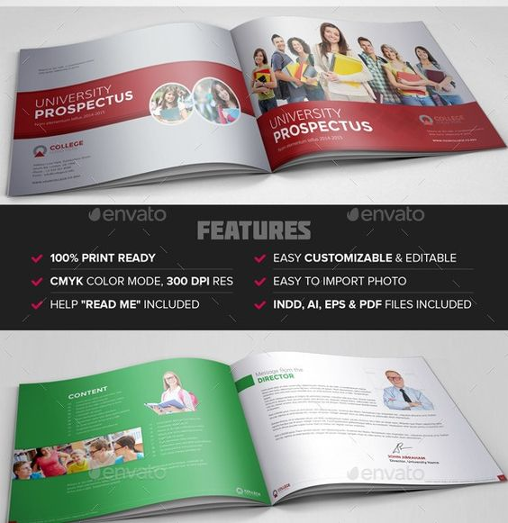 CollegeUniversityProspectusBrochureTemplatejpg 590 608 – University Brochure Template