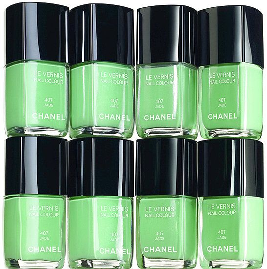 "Chanel ""Jade"" nail colour  via Ash Kim"