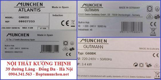 Tem sản xuất của bếp từ Munchen