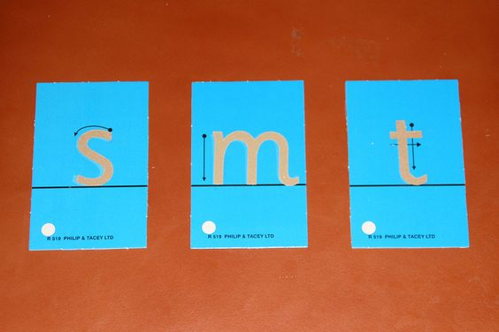 Inexpensive and DIY Sandpaper Letters - with information and links for making and presenting Montessori sandpaper letters