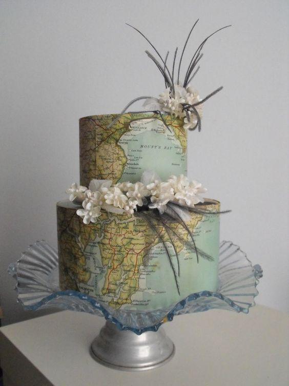 World Map Cake.