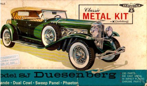 Vintage 1965 Hubley Duesenberg Sj Phaeton 1 18 Diecast Metal Model