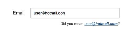 The jQuery plugin that suggests a right domain when your users misspell it in an email address.
