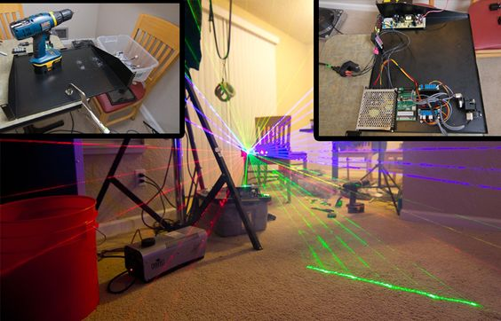 Diy laser projector ideas coolest things pinterest for Skilled craft worker makes furniture art etc