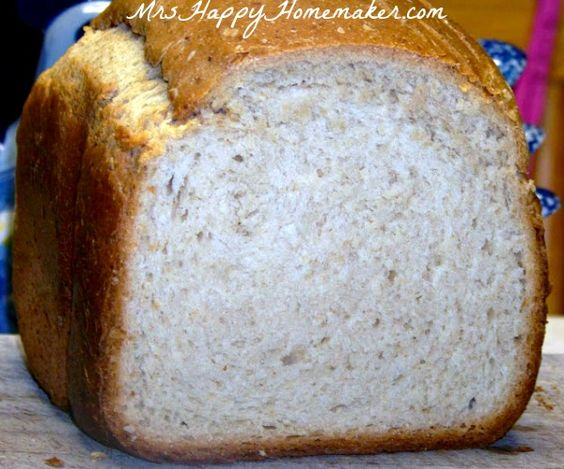 What's my FAVORITE bread for the bread machine?  This one right here!  Honey Oatmeal Bread - yum!