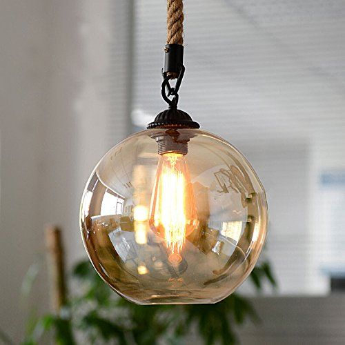 Homili Vintage Industrial Loft Amber Globe Glass Lighting Https