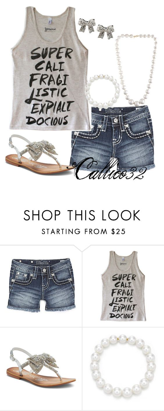 """Super and pearls"" by callico32 ❤ liked on Polyvore featuring Miss Me, Victoria's Secret and Kenneth Jay Lane"