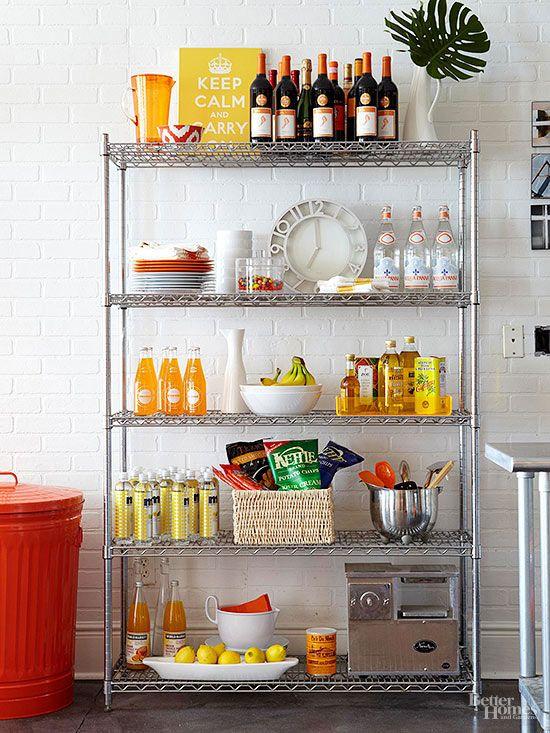 9 Ways To Keep Your Rental Kitchen Super Clean Extra Kitchen Storage Small Apartment Decorating Apartment Kitchen