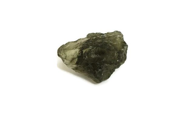 1 Piece Natural Moldavite 10x16mm Uneven Shape Loose Gemstone 1.4 Grams  #Empressbeads