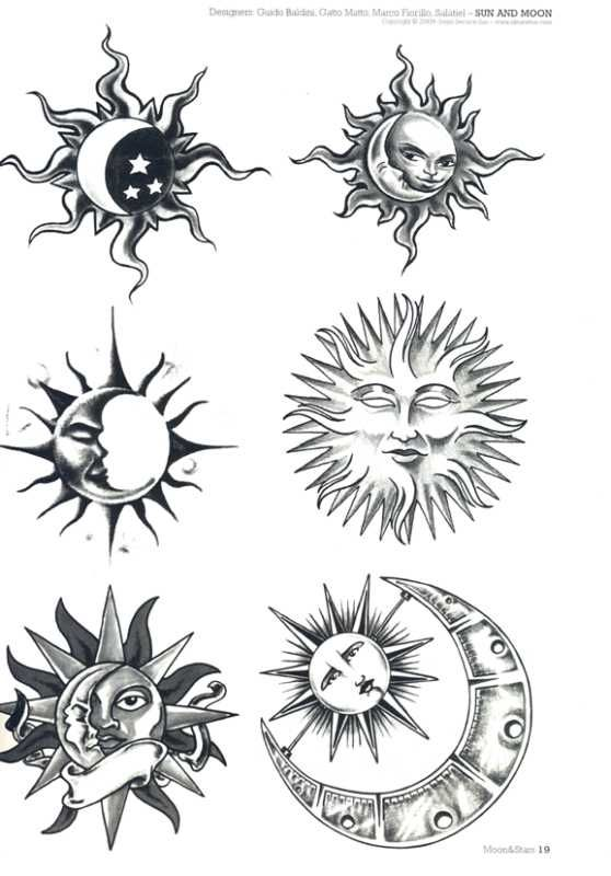 Sun And Moon And Stars Drawing