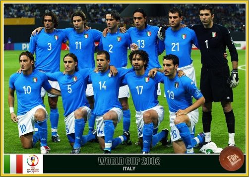 Fan Pictures 2002 Fifa World Cup South Korea Japan Italy Team In 2020 Italy Team World Cup Fifa