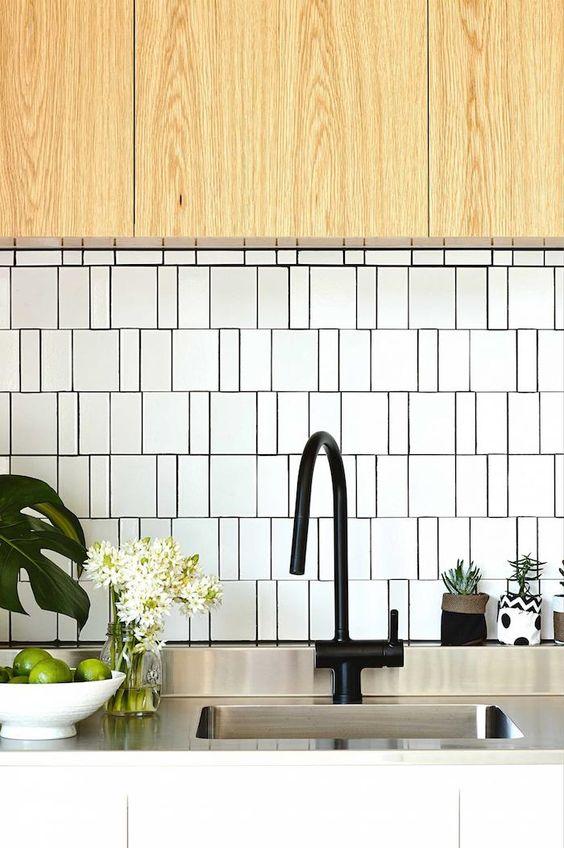 A Modern Mid Century Beach House Tile Splashback Scandinavian Kitchen Pinterest