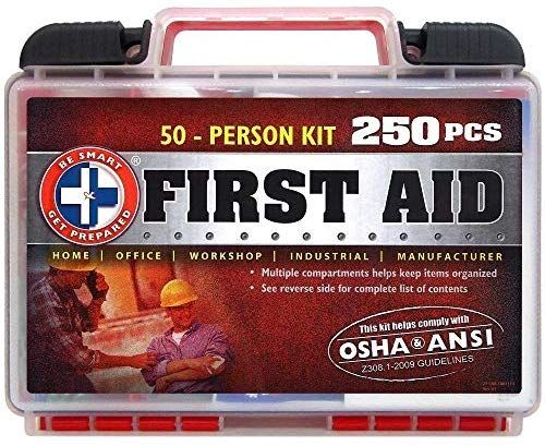 Be Smart Get Prepared 250piece First Aid Kit Exceeds Osha Ansi Standards For 50 People Office Home Car School Emergency Survival Camping Hunting Spo Di 2020