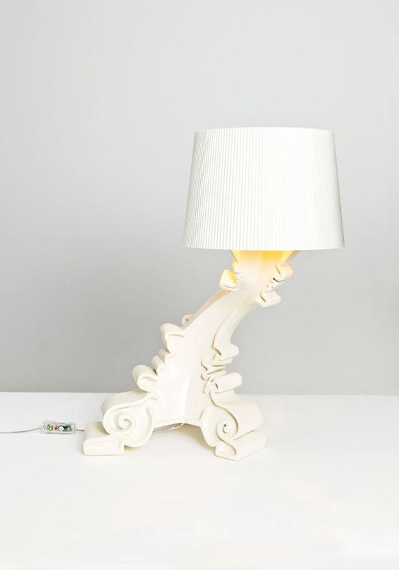 weiß tischlampe designklassiker Bourgie Kartell