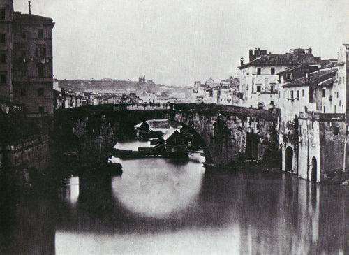 Il Ponte Cestio, anteriore al 1870