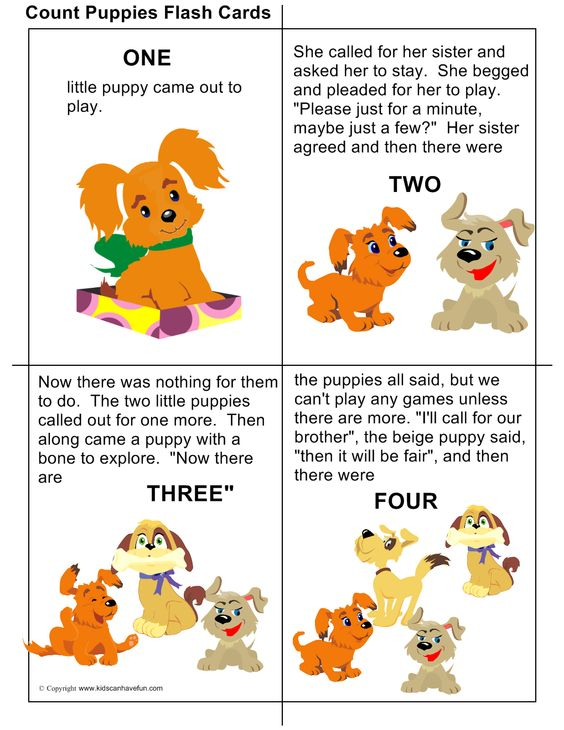 Printables Kids Ramying Words diy count puppies flashcards with rhyming words teach kids how to puppies