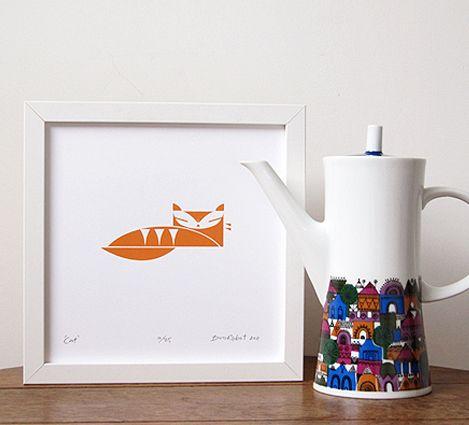 'Cat' mini print - biroRobot
