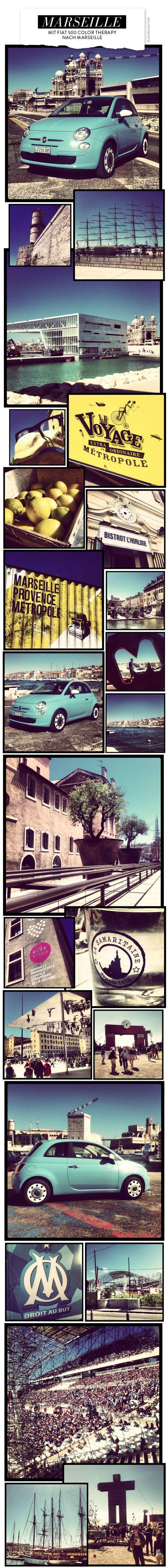 Mit Fiat 500 Color Therapy nach Marseille