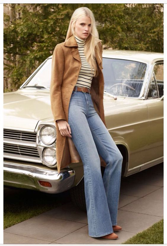 Flare jeans, 70s style