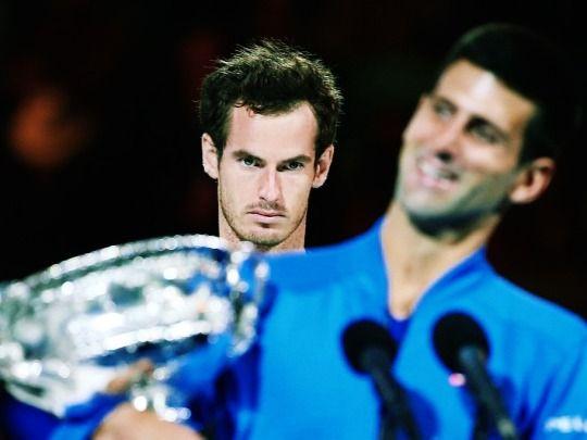 Andy Murray and Novak Djokovic Australian Open 2015