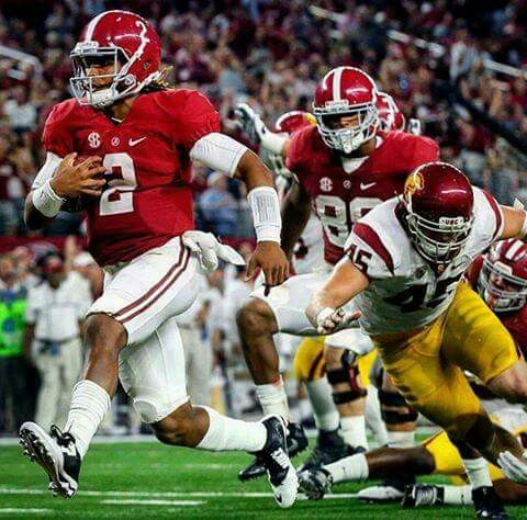 Jalen Hurts. ..USC vs Alabama