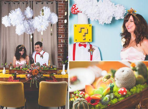 Super Mario and Princess Peach Wedding - 20 Super Geeky Weddings: