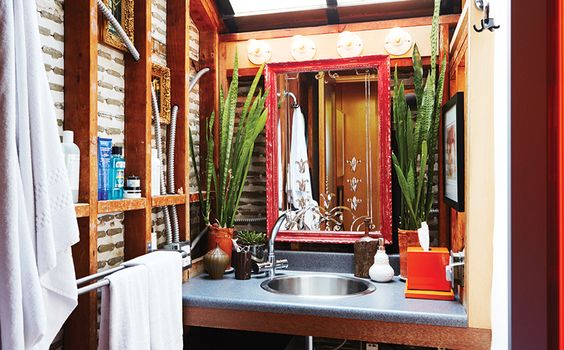 A Baja California style bathroom in Brent Bolthouse's Venice home