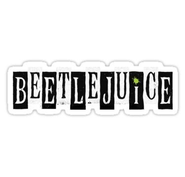 Beetlejuice Musical Broadway Logo Sticker By Amscraypunk In 2020 Beetlejuice Music Stickers Musical Logo