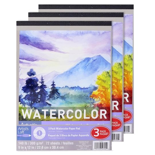 3 Pack Watercolor Paper Pad By Artist S Loft In 2020 Watercolor