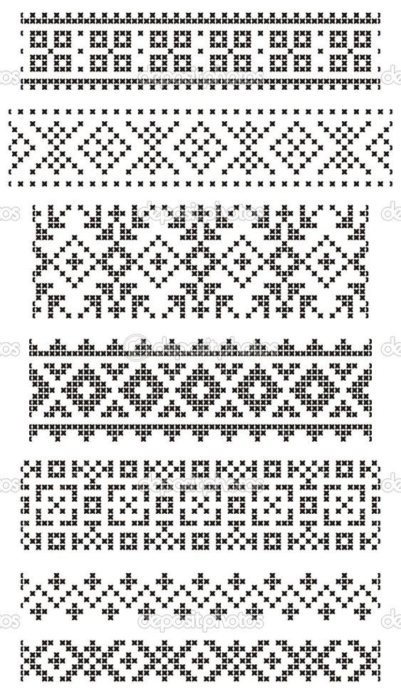 Border no.4 - from centre cross working out: red, yellow, blue with green top & bottom? dep_1636416-Borders-embroidery.jpg (590×1024)