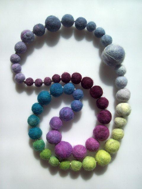 felt ball necklace   Flickr - Photo Sharing!