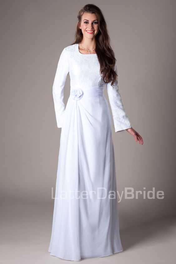 Boston modest mormon lds temple dress temple dresses for Mormon temple wedding dresses